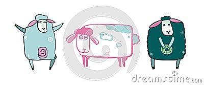 Set of sheeps