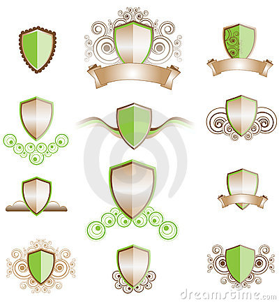 A set of shield designs
