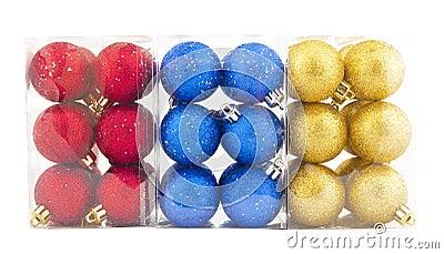Set of shining Christmas-tree decorations
