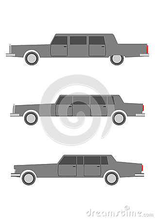 Retro limousine set.