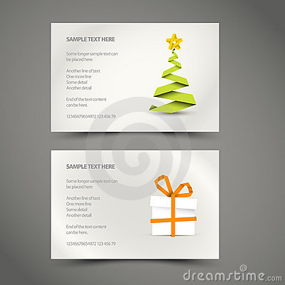 Set of Simple  christmas cards