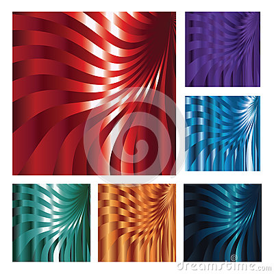 Set of six abstract backgrounds