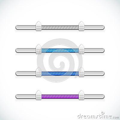 Set of sliders scroll bars