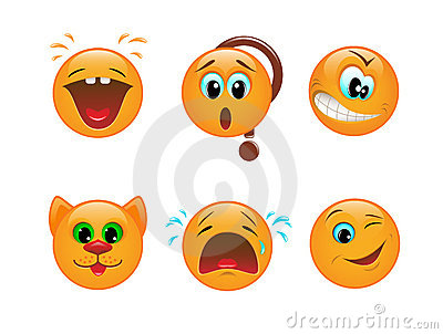 Set of smileys
