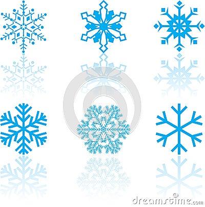 Set of Snowflake Designs