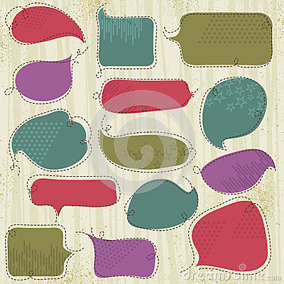 Set of special labels and bubble, vector