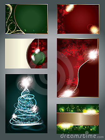 Set of special light effect Christmas Cards