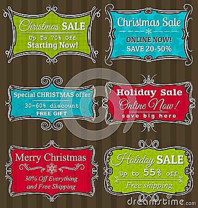 Set specjalnej sprzedaży oferty etykietki i sztandary