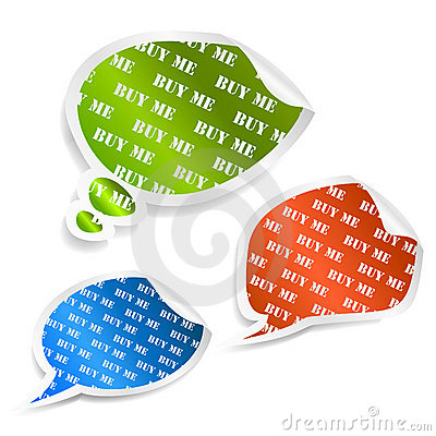 Set of speech bubble stickers