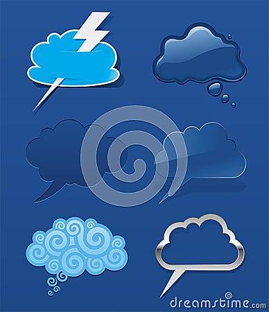 Set of speech cloud