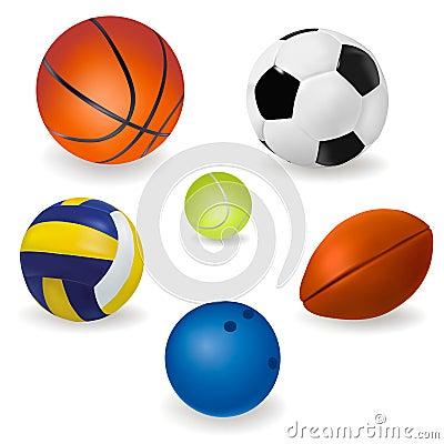 Set of sport balls.