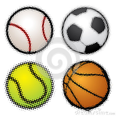 Set of sport balls