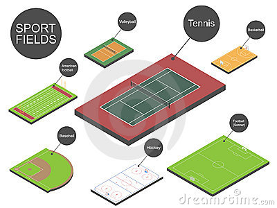 Set of sport fields.
