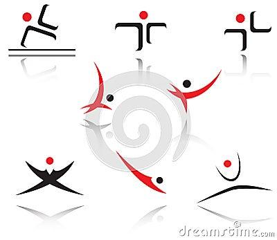 Set of sport symbols
