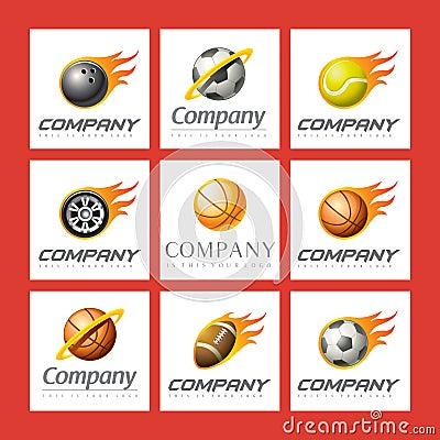 Set of sports logos