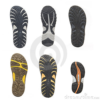 Set of sports shoes soles