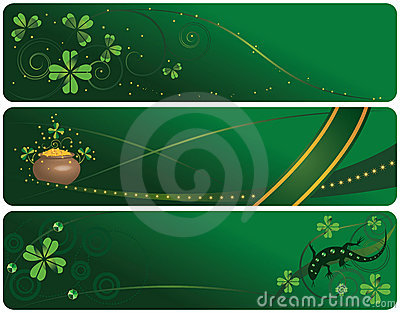 Set of  St. Patrick s Day banners