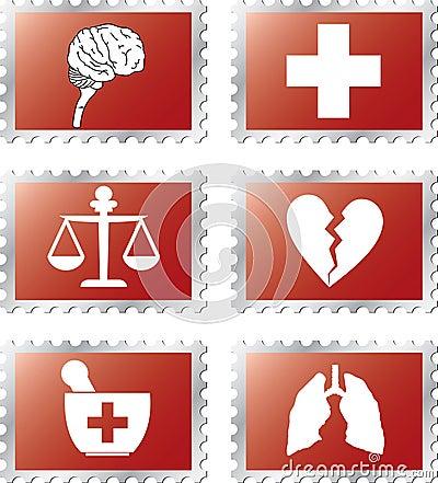 Set stamps - 92B. Medicine