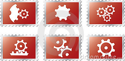 Set stamps1 - 18. Gears