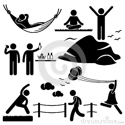 Healthy Living Wellness Lifestyle Pictogram