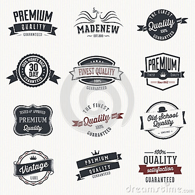 Set of  stickers and ribbons - retro