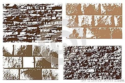 Set of stone texture