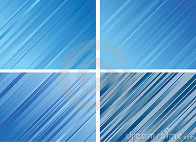 Set of Striped Backgrounds
