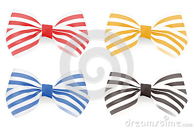 Set of Striped bows.