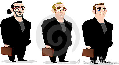 Set of Stylish Businessmen