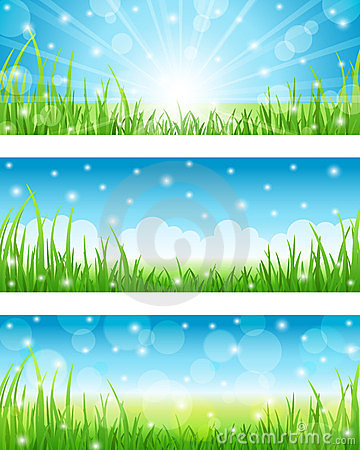 Set of Summer Abstract Background.