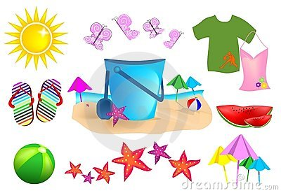 Set Summer Icons