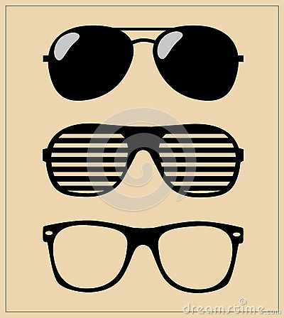 Set of sunglasses.  illustration background
