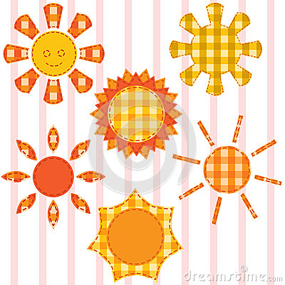 Set of suns, quilting