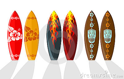 Set of  surf boards