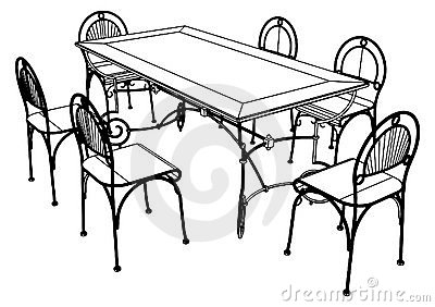 table clipart black and white. clip art black and white dining table clipart