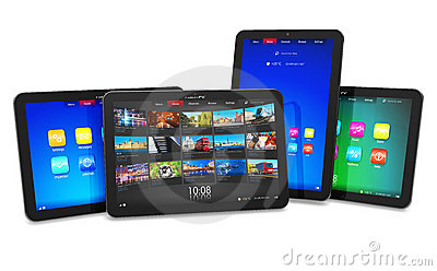 Set of tablet computers
