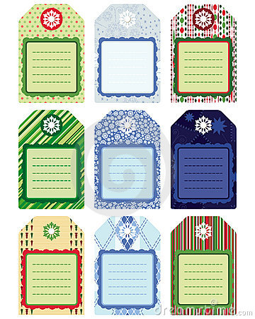 Set of Tag, design elements. Illustration for your