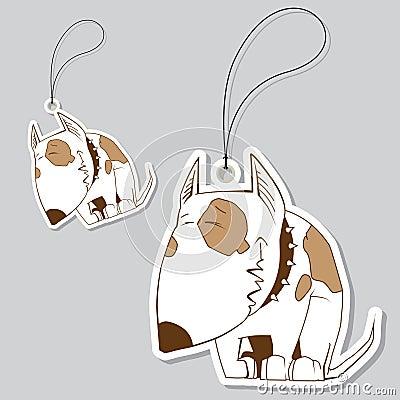 Set of tags with nice dog.