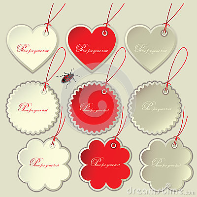 Set of tags to the festive Valentine s Day.