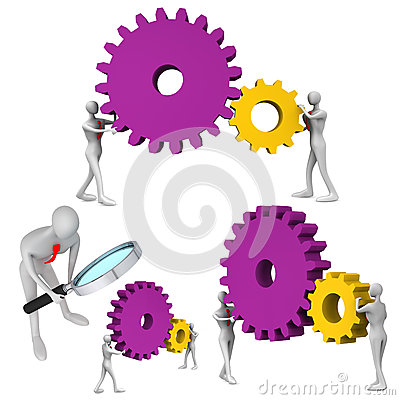 Set of teamwork icons