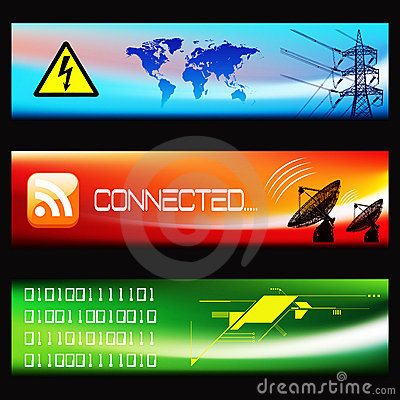 Set of Technological Banners -EPS Vector-