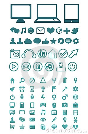 Set of  technology icons