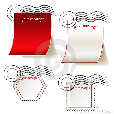 Set of templates for message