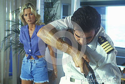 Set of  Temptation  during gun scen Editorial Stock Photo