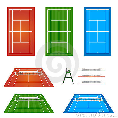 Set of Tennis Courts