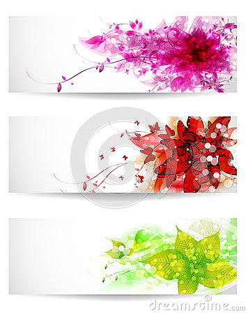 Set of three color background