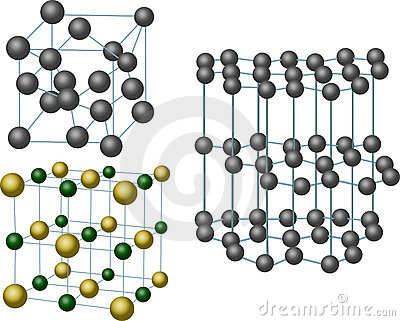 Set of three crystal structures