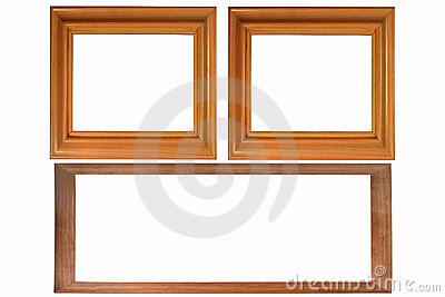 Set of three photo frames