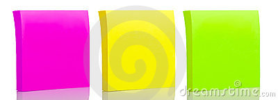 Set of three sticker post-it notes