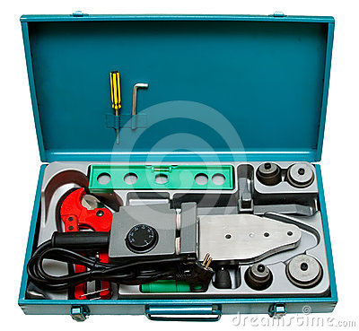 A set of tools for welding plastic pipe